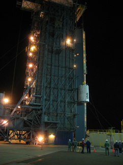 WISE lifted to the top of the Delta II rocket