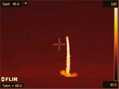 WISE launch captured in infrared