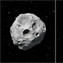 Image shows picture of an asteroid.