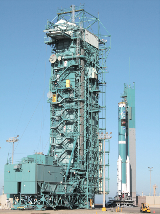 WISE launch vehicle 2nd stage erection