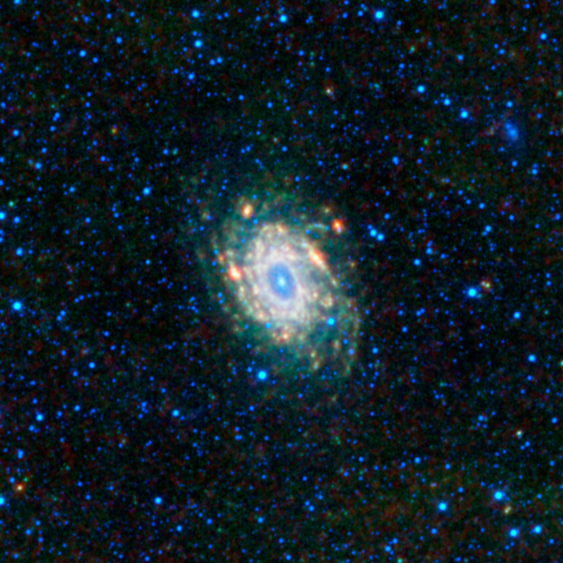 The bright white spiral in the center of the image is the Spiral Galaxy.