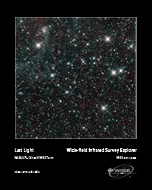 WISE's final picture shows thousands of stars in a patch of the Milky Way Galaxy.