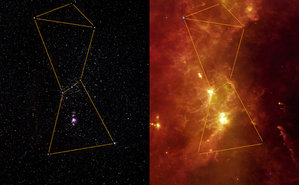 Orion Visible and Infrared